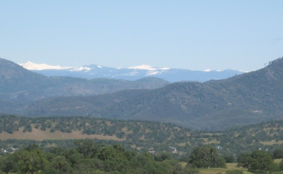 View of Sierras